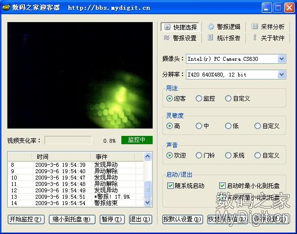 智能迎客器,摄像头的新用途-[20090521]