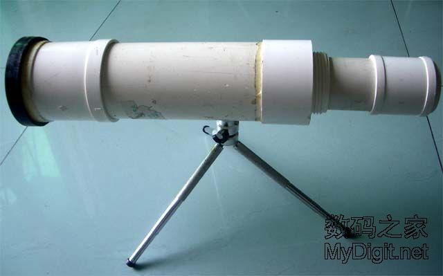 超简单的长焦 自制天文望远镜