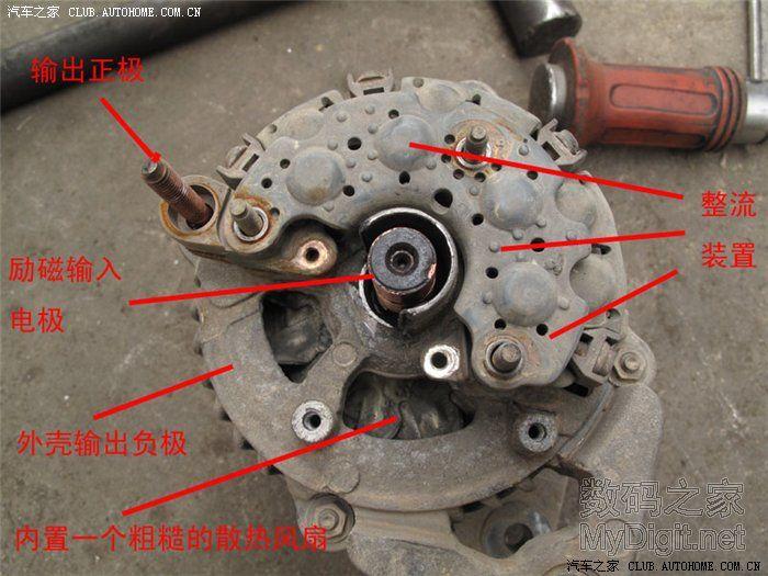 汽车交流发电机 拆机小修图片