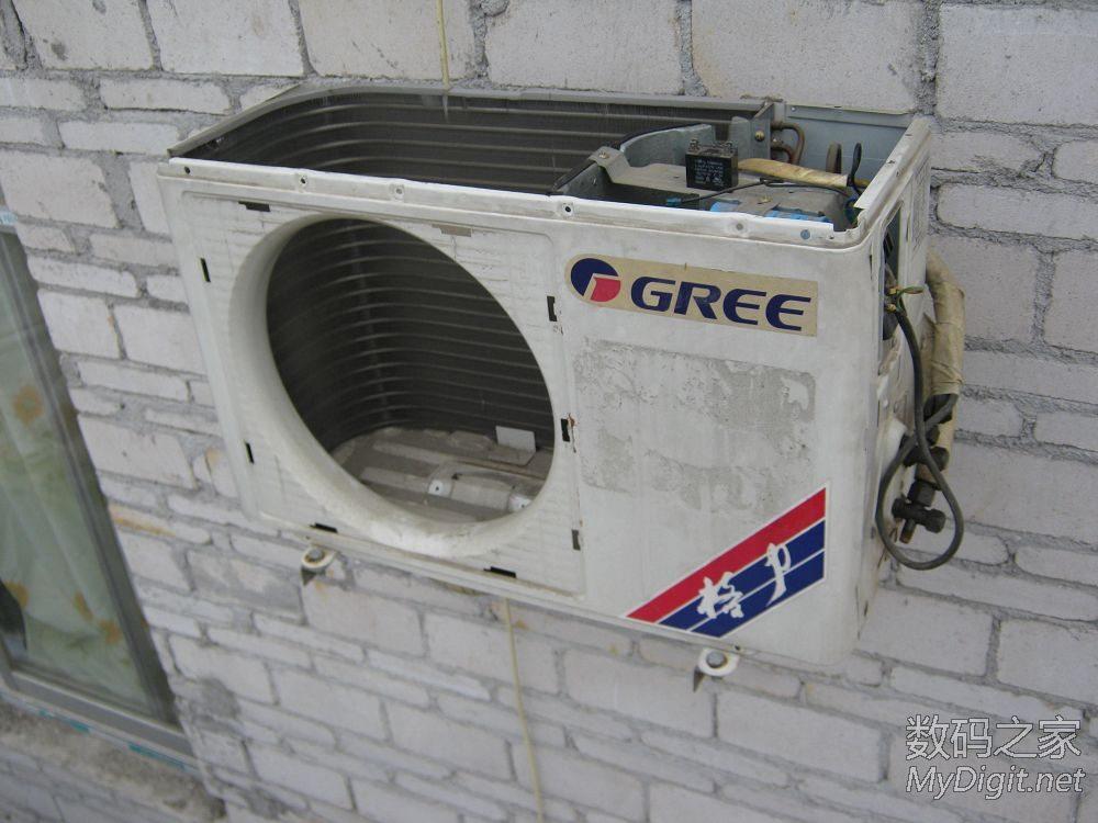 天气热了才发现空调不太制冷 菜鸟一波三折拆解格力空调外机