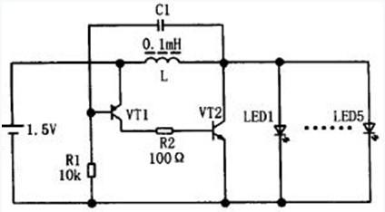 测试一个升压电路,1.2v电池驱动大功率led