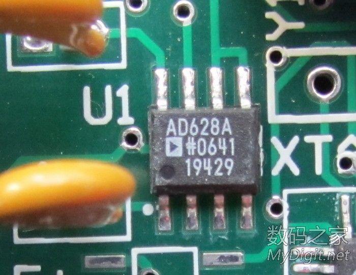 电压可编程增益差分放大器芯片AD628A.   3.3V的低压差稳压芯片