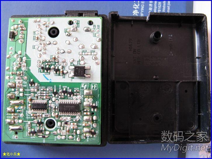和电路板   LM324和控制芯片   电源部分   电路板正面