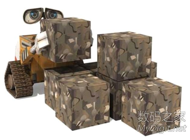瓦力与伊娃纸模型图纸打包