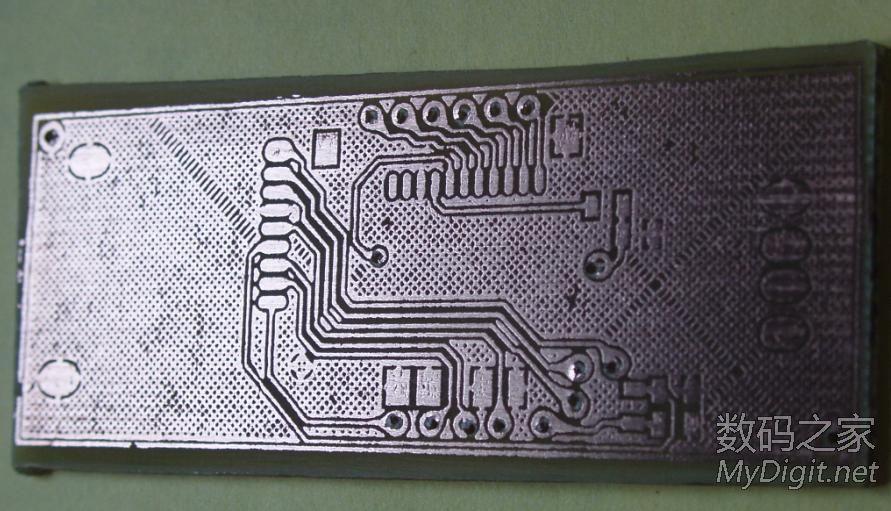 实战热转印,再次diy读卡器,挑战8mil线宽。有图。(转) 76_1217992_ee77df2d6452d27