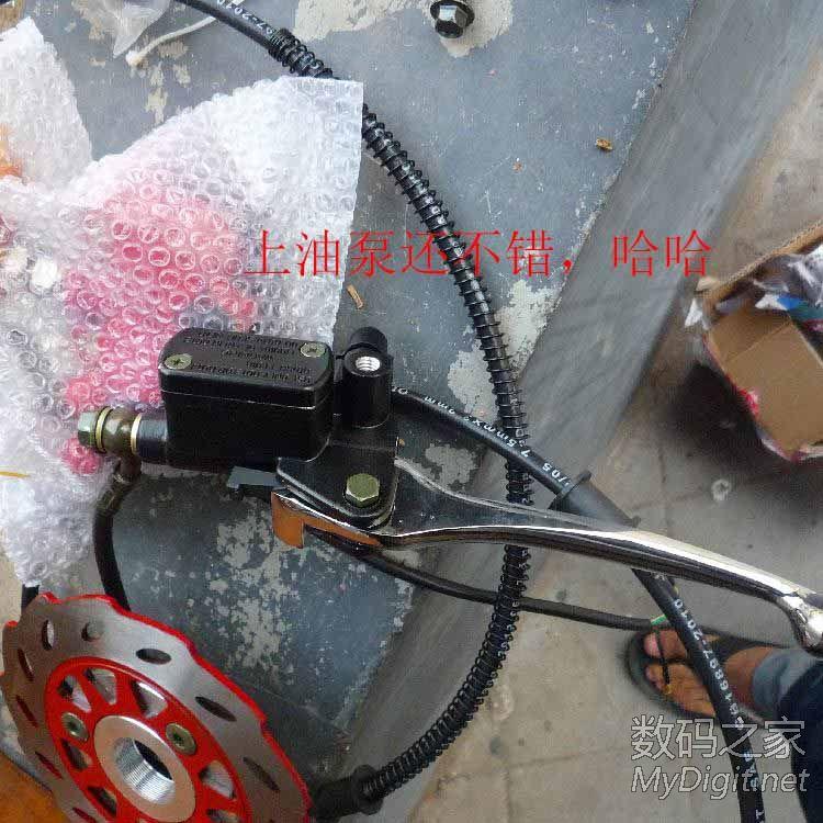 电动车,改碟刹---------------这头驴逆天了!