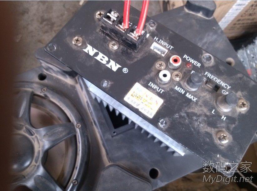 拆一个汽车用的NBN低音炮,低音效果很不错,大家看看怎么样高清图片