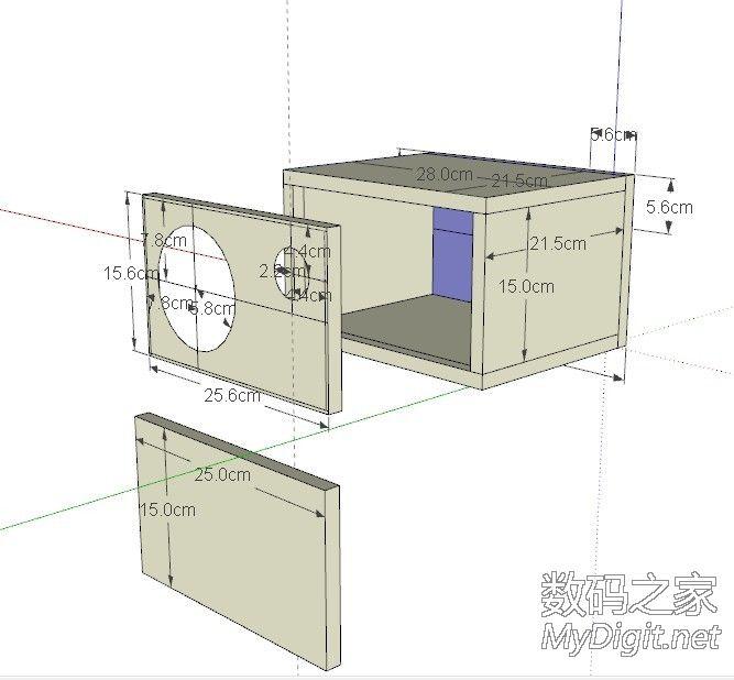 经典5寸音箱图纸