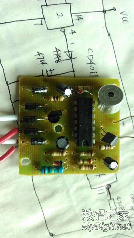 ,拆一个三线制声控开关 CD4011