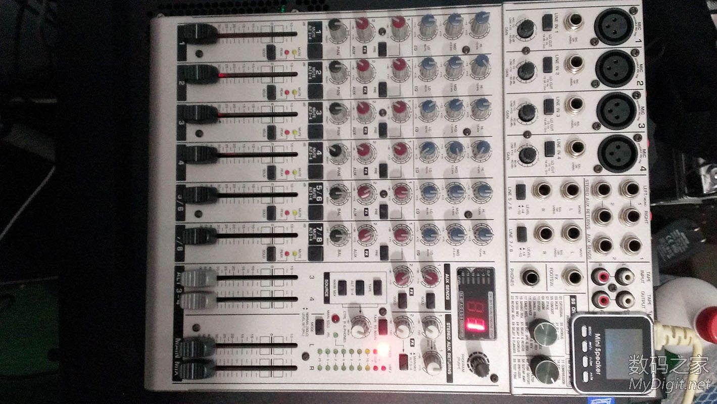 【已出】成色好自用的百灵达UB1204FX小调音台(99效果器)