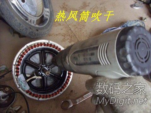 36V澳柯玛电动车电机拆卸图片