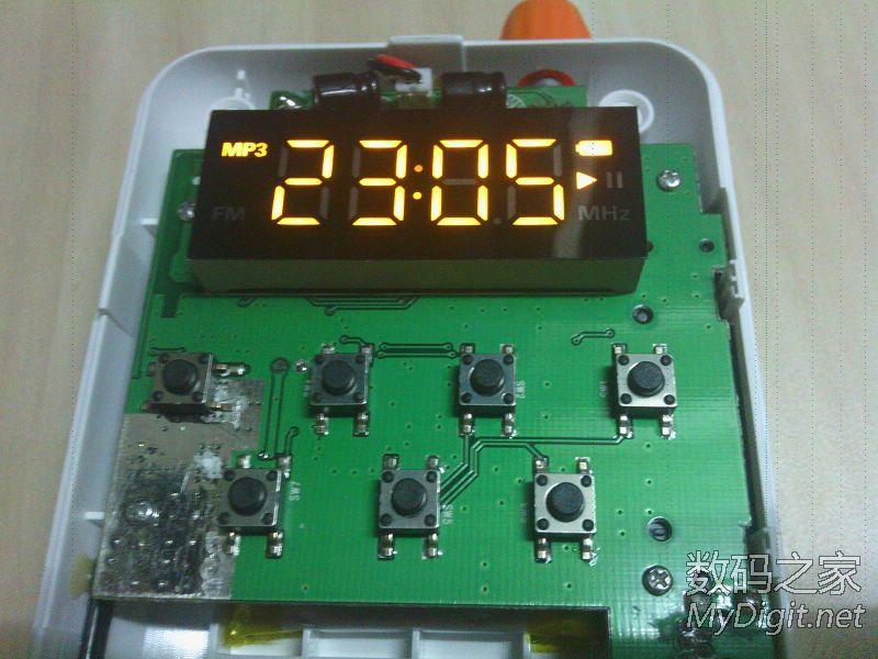 标志 音箱/这个是MP3状态,电池标志是整体的,没法显示电量