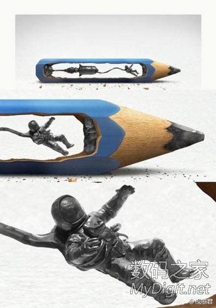 大师级铅笔雕刻