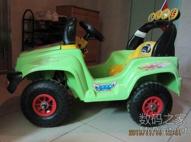 给儿童电动车换充气轮胎,后轮换双电机双轮驱动