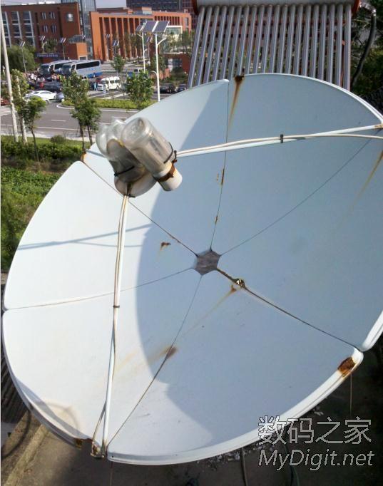 年多的山寨三威卫星天线,真的是5年报废啊,修修补补再用几年图片
