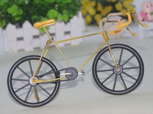 小工艺品.铁丝自行车.