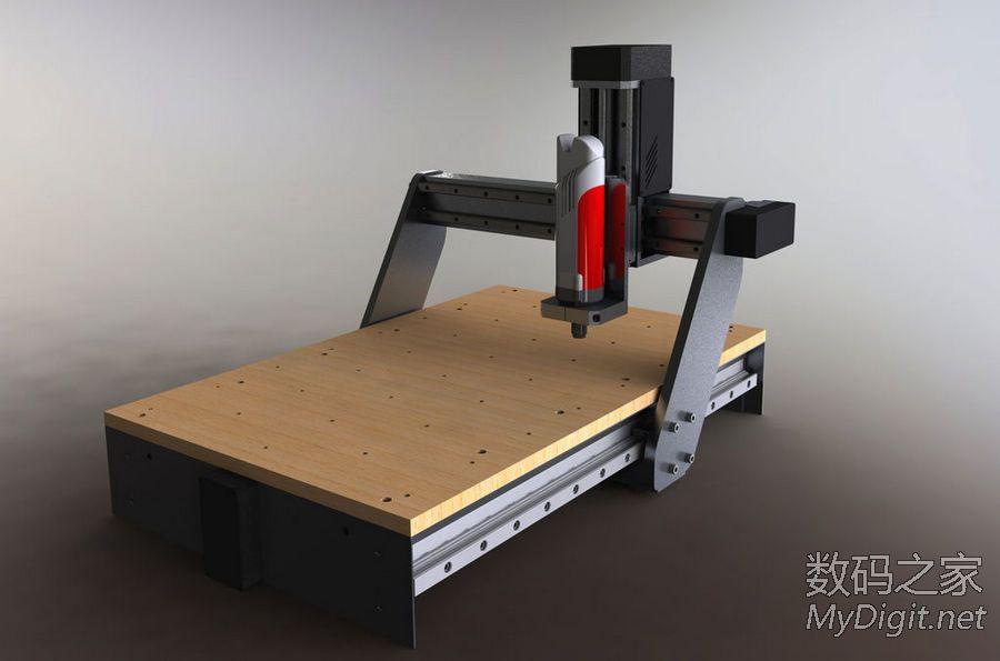 转老外自制CNC雕刻机,附详细CAD设计图纸