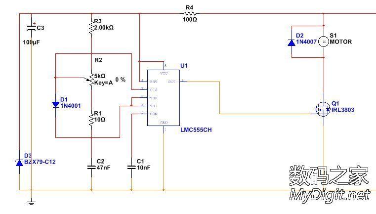 直流电钻 电机 调速电路带来的困惑 PWM调速究竟比线性调压调速好在图片