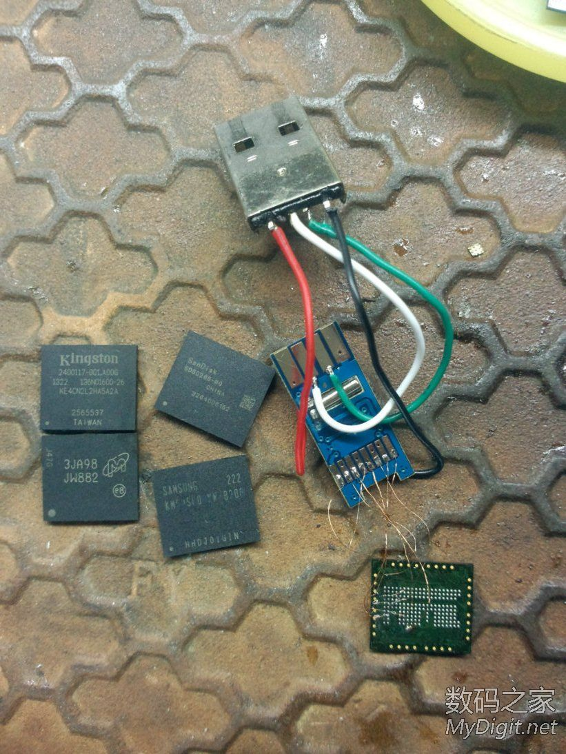 牛屎读卡器EMMC字库飞线改装U盘SD卡折腾!多图。。