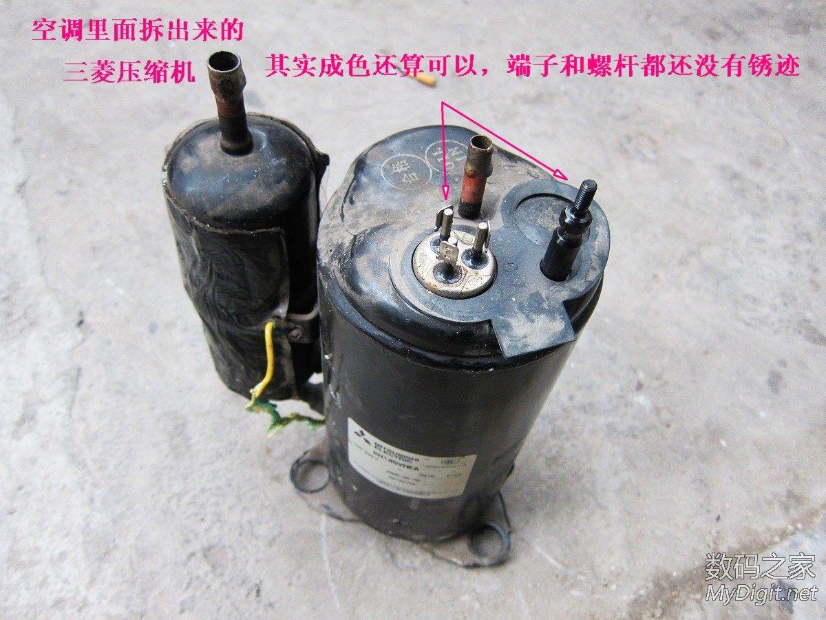 彻底解剖三菱空调压缩机,图解内部结构原理高清图片
