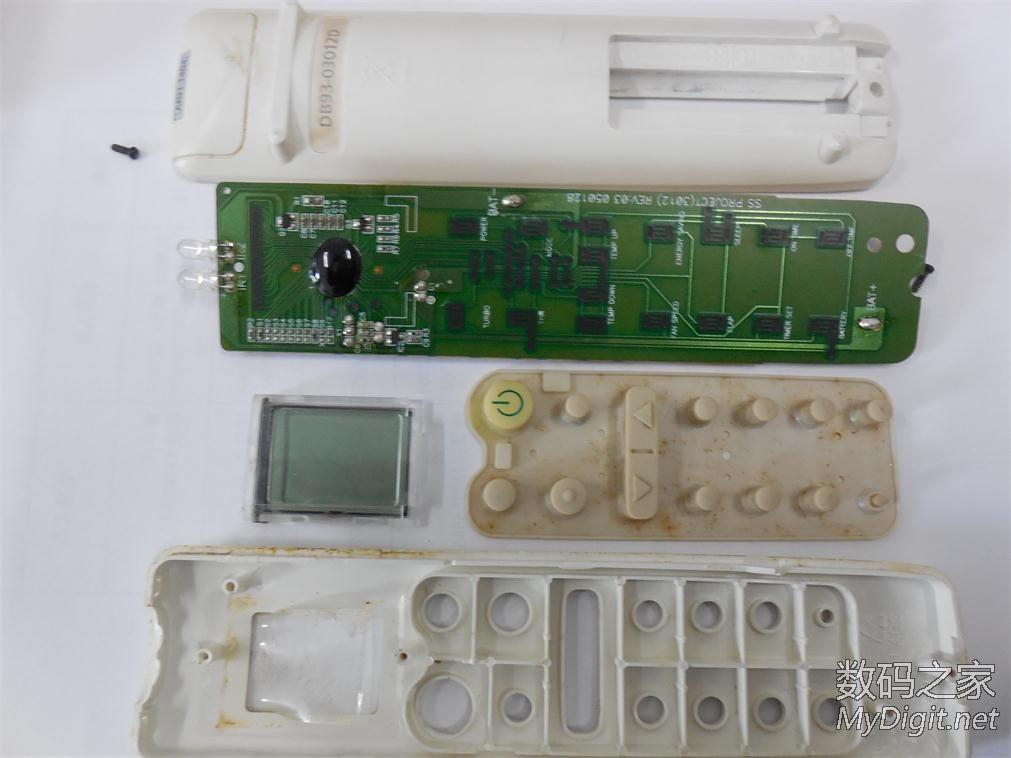 三星空调遥控器拆解图片
