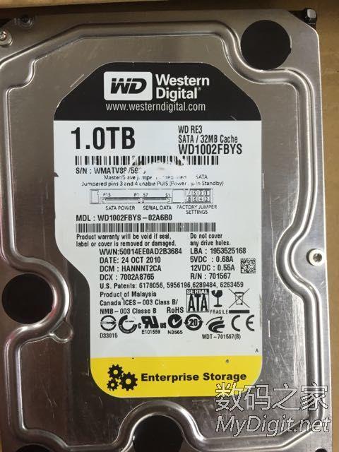 西部数据 WD 西数企业级黑盘 2T 1T 台式机硬盘,三块儿在保
