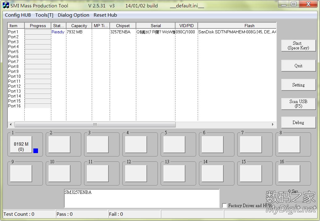SM3257ENLT-ISP 131112-AA 黑片量产