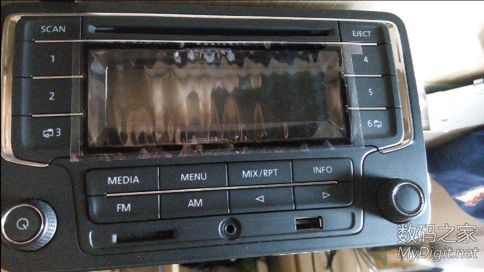 拆个换下来的帕萨特cd机,想加个盒子搁车库里干活时听高清图片