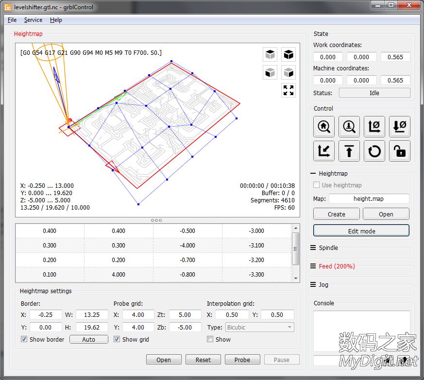 新版GRBL 雕刻机控制软件grblControl
