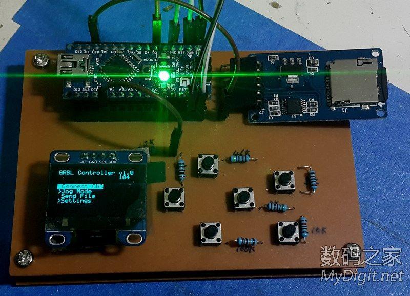 玩具机脱机手控 v2.0 (请教PCB走线问题)