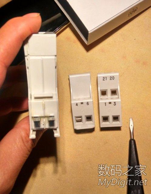 导轨式单相数字电表,拆机 并附上接线图 论坛买的图片
