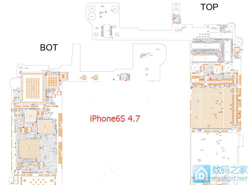 (分享)iphone6s原理图、点位图(维修必备)