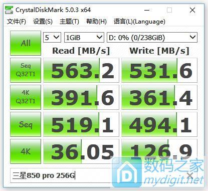 850 pro 256G初步测试