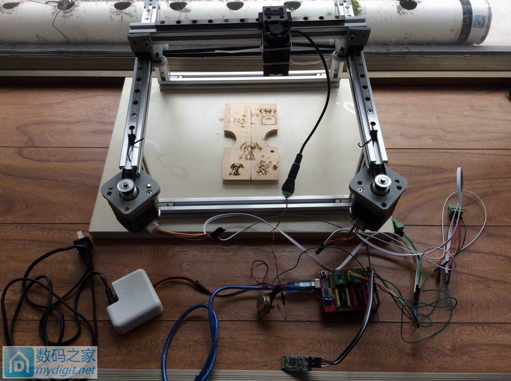 自制基于Arduino grbl的hbot型激光雕刻机