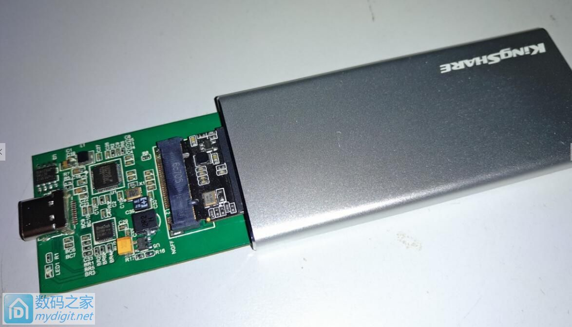 ASM1153E方案 M.2转TYPE-C硬盘盒拆机+测试