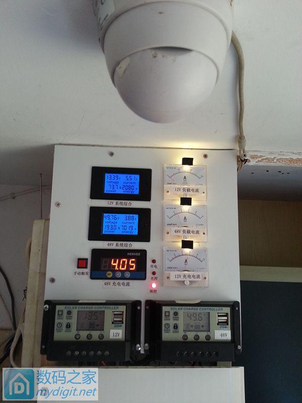 我家的小型离网太阳能发电系统