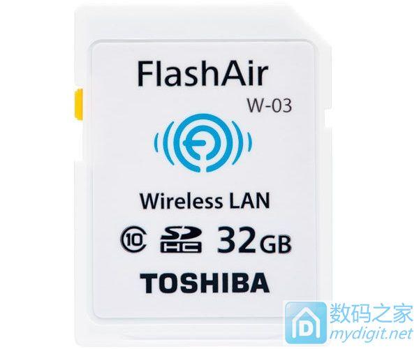 新增相机遥控开关功能 东芝发布新版无线SD卡 — FlashAir
