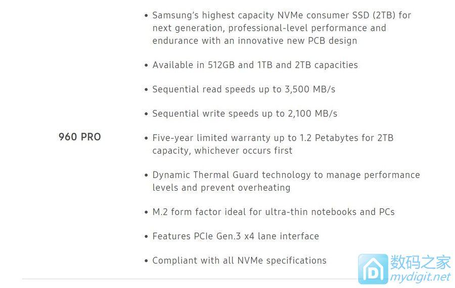 钱包君您受累了 三星发布960 PRO/EVO SSD,860人民币起售