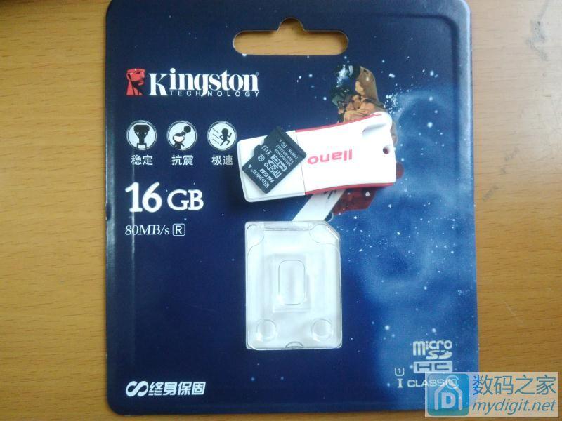 金士顿(Kingston)16GB 80MB/s TF卡晒单测试
