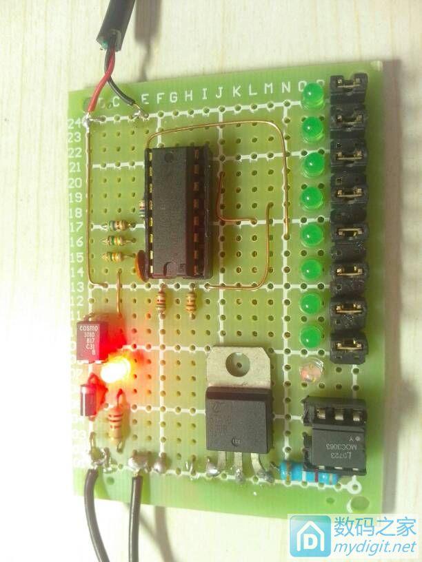 拆吸顶灯分段控制器得到CD4017,改成了点焊机控制板,最短半波0.