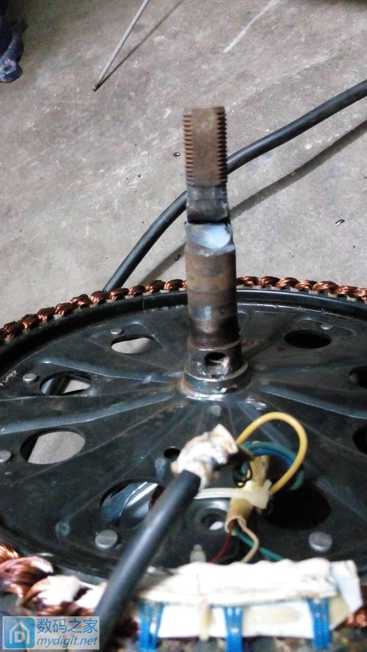 全网首发,焊接修复电动车电机轴(3楼有更新)