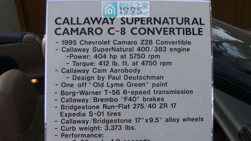"""别人家的""""黄标车"""" 1995款魔改版雪佛兰卡玛洛 Callaway C8"""