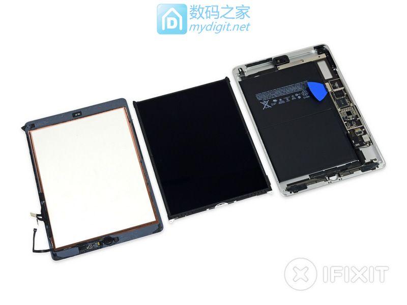 全网首发 苹果 iPad 5 WIFI 拆机,这就是iPad Air的马甲