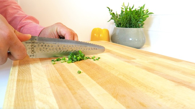 """现实版""""两面三刀"""" 削铁如泥Doppio双面厨刀,厨房达人必备"""