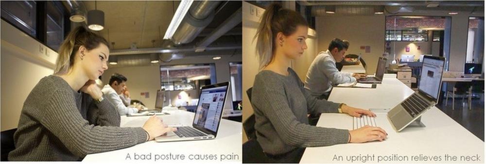轻易压不垮还薄如蝉翼的 OviStand 护颈电脑支架