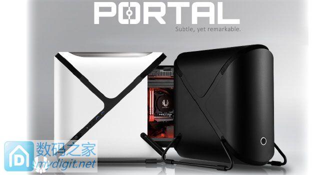 抽屉式易维护内胆+讨巧外形 BitFenix发布Portal HTPC机箱