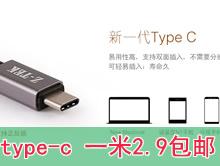 type-c数据线1米 2.9元