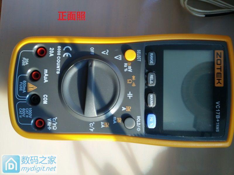 『二师兄出品』众仪ZOTEK VC17B+万用表拆解&测试