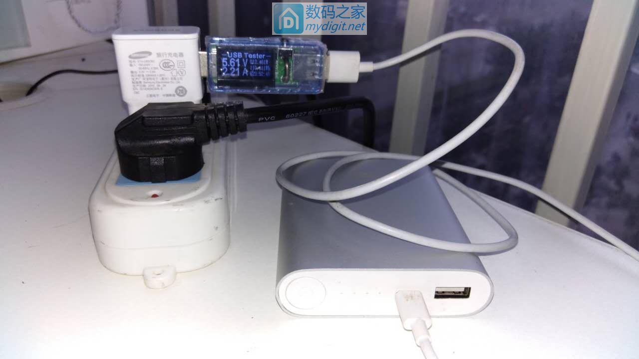 老款小米移动电源10400+三星充电头实现2A充电电流