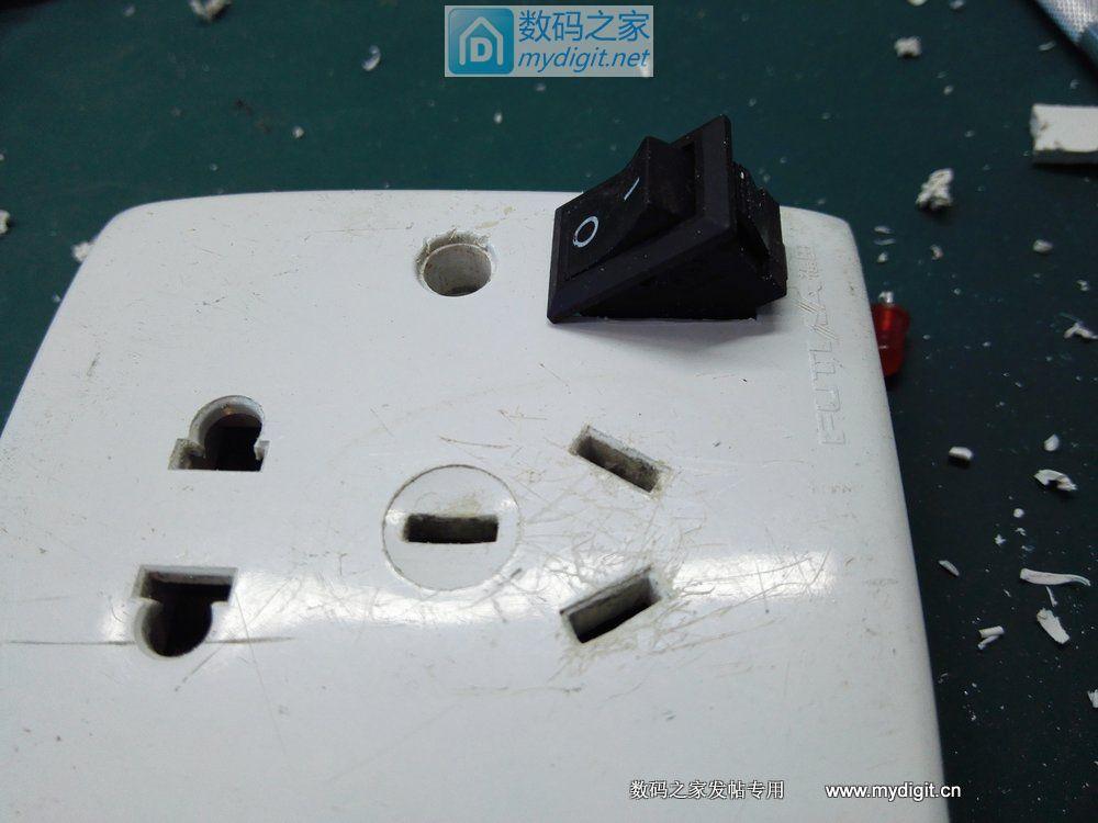 再次优化 短路保护插座—— 加切换开关和指示灯